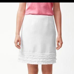 Tommy bahama linen white skirt